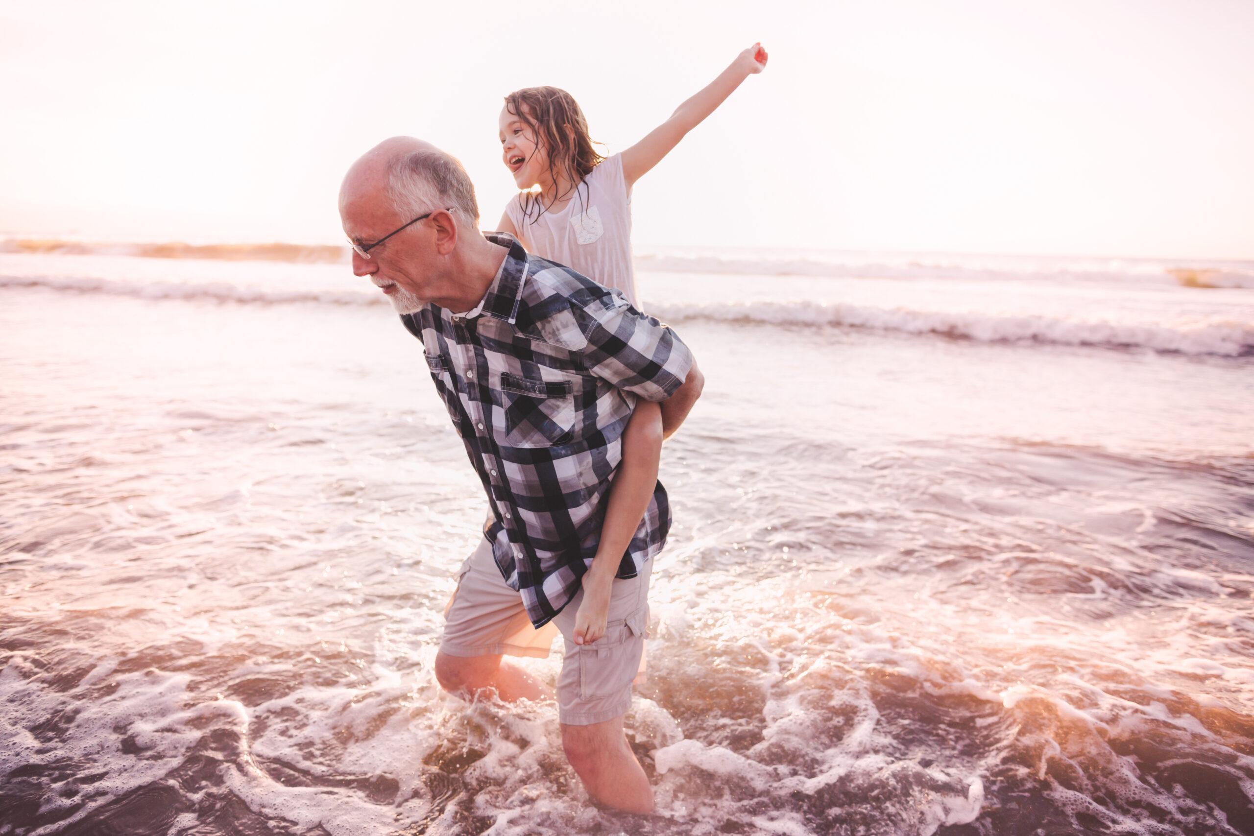 Grandpa and granddaughter day trip in Melbourne