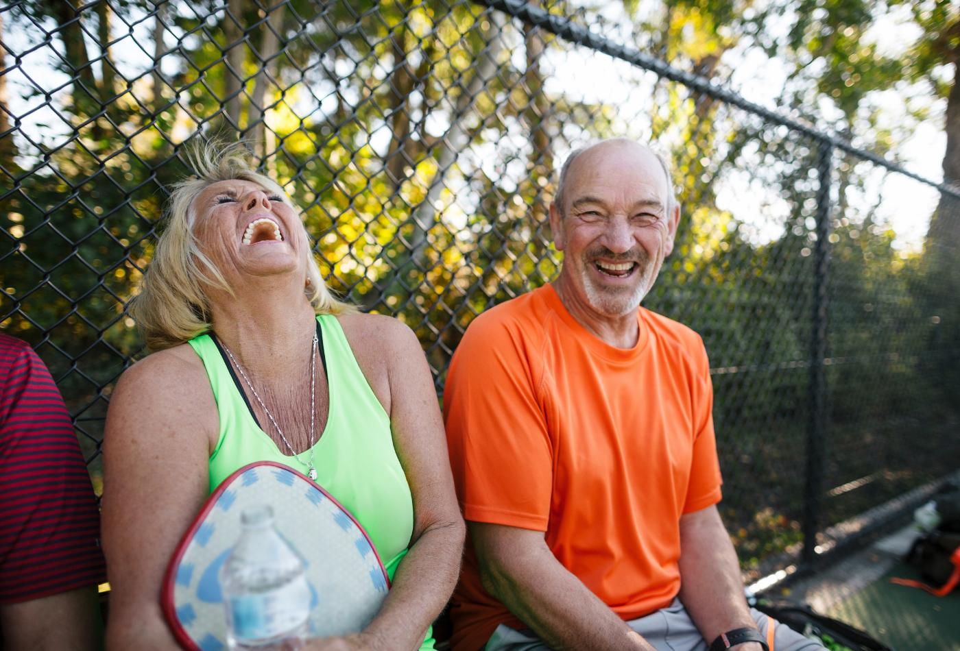 community tennis in retirement village